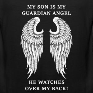 Son - My son is my guardian angel - Men's Premium Tank
