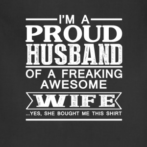 Wife - Proud husband of an awesome wife - Adjustable Apron