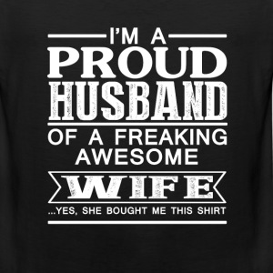 Wife - Proud husband of an awesome wife - Men's Premium Tank