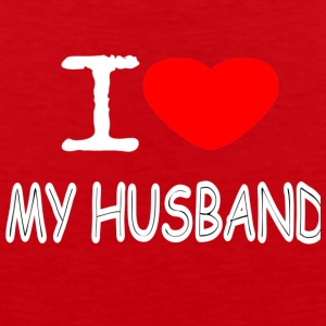 I LOVE MY HUSBAND - Men's Premium Tank