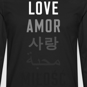 Love is Universal  - Men's Premium Long Sleeve T-Shirt