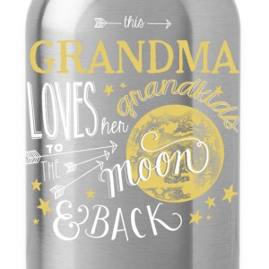 Grandma - Loves her grandkids to the moon  - Water Bottle