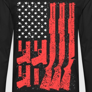 2nd Amendment - America flag T-shirt - Men's Premium Long Sleeve T-Shirt