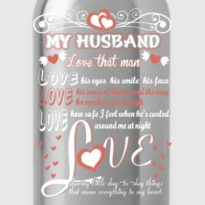 Husband - Love the way he makes me laugh - Water Bottle