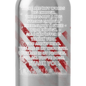 Memorial day - All I can offer is thank you - Water Bottle