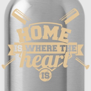 Baseball - Home is where the heart is - Water Bottle
