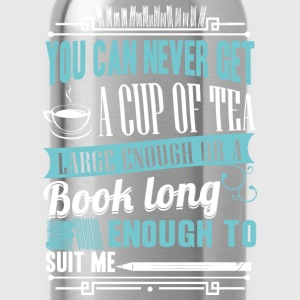 Reading - A book long enough to suit me - Water Bottle