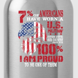 US military - I am proud to be one of them - Water Bottle