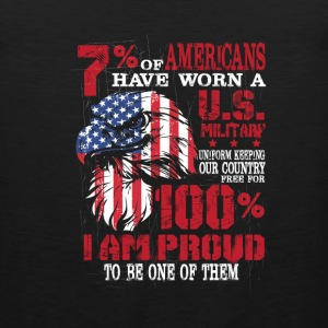 US military - I am proud to be one of them - Men's Premium Tank
