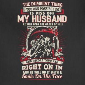Husband - He will open the gates of hell - Adjustable Apron