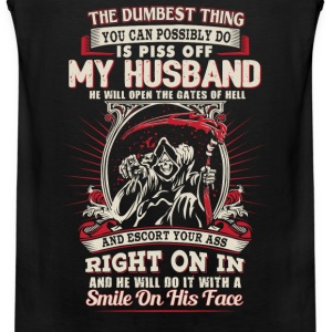 Husband - He will open the gates of hell - Men's Premium Tank