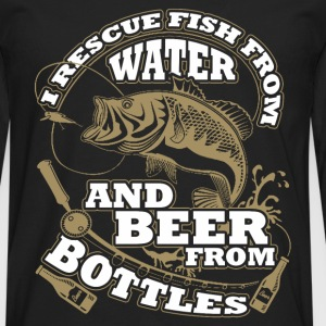 Fishing - I rescue fish from water and beer - Men's Premium Long Sleeve T-Shirt