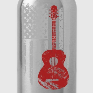 Guitar player - American flag T-shirt - Water Bottle