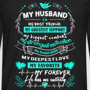 Husband - My forever. He has me entirely - Men's Premium Long Sleeve T-Shirt