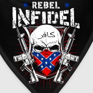 Rebel Infidel - Skull with gun T-shirt - Bandana
