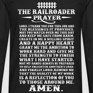 Railroader - A willing spirit and a happy heart - Men's Premium Long Sleeve T-Shirt
