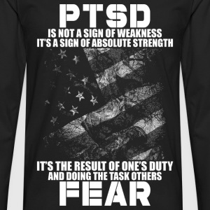 PTSD - Result of one's duty and doing the task - Men's Premium Long Sleeve T-Shirt