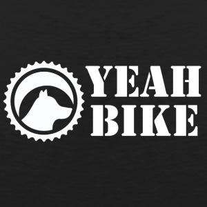 Yeah Bike white - Men's Premium Tank