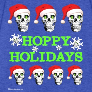 HOPSKULL Hoppy Holidays Contrast Hoodie - Fitted Cotton/Poly T-Shirt by Next Level