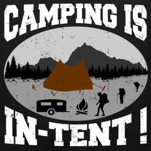 CAMPING IS INTENT 2.png T-Shirts - Men's Premium Tank