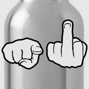 Gloves 2 fingers stinkfinger middle finger show sy T-Shirts - Water Bottle