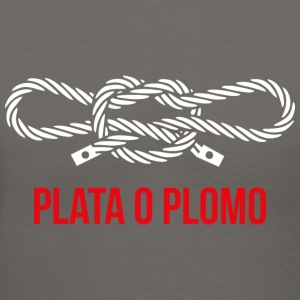 Plata o plomo 2 (dark) Hoodies - Women's V-Neck T-Shirt