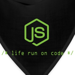 Life run on code - Gift for Node.js Programmer - Bandana