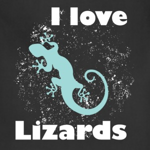 I love lizards - Adjustable Apron