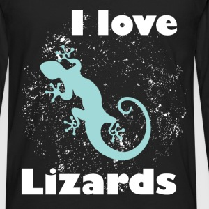 I love lizards - Men's Premium Long Sleeve T-Shirt