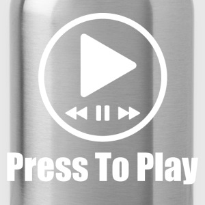 prees to play music 2.png T-Shirts - Water Bottle