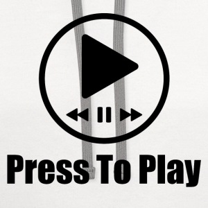 press to play music 1.png T-Shirts - Contrast Hoodie