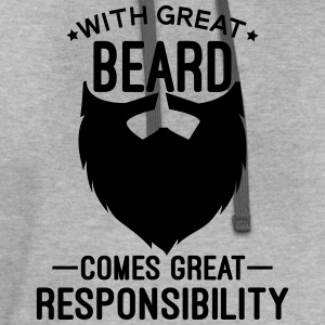 With Great Beard T-Shirts - Contrast Hoodie