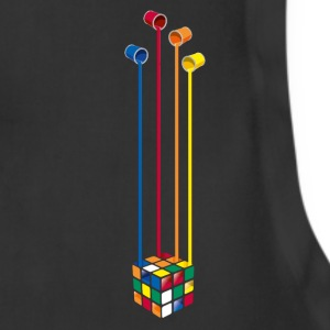 Rubik's Cube Colourful Paint Buckets - Adjustable Apron