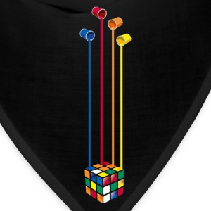 Rubik's Cube Colourful Paint Buckets - Bandana