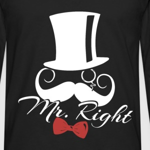 Mr. Right - Men's Premium Long Sleeve T-Shirt