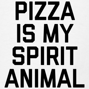 Pizza Spirit Animal Funny Quote Aprons - Men's T-Shirt