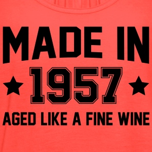 Made In 1957 Aged Like A Fine Wine T-Shirts - Women's Flowy Tank Top by Bella