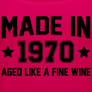 Made In 1970 Aged Like A Fine Wine T-Shirts - Women's Premium Tank Top