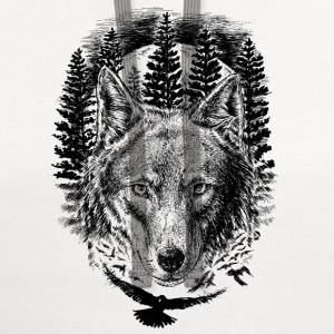 AD Wolf T-Shirts - Contrast Hoodie