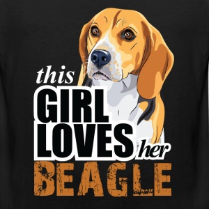 thIs gIrl loves her beagle T-Shirts - Men's Premium Tank