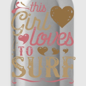 This Girl Loves To Surf Surfing T-Shirts - Water Bottle
