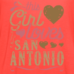 This Girl Loves San Antonio T-Shirts - Women's Flowy Tank Top by Bella