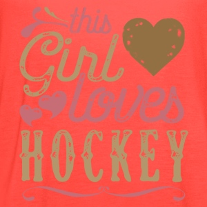 This Girl Loves Hockey T-Shirts - Women's Flowy Tank Top by Bella