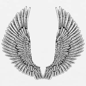 angelic-wings-vector - Men's Premium Tank
