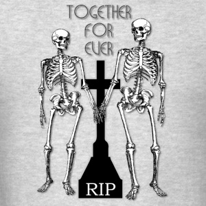 Two skeletons in love Long Sleeve Shirts - Men's T-Shirt