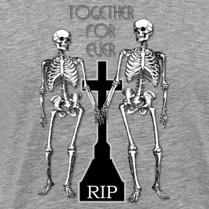 Two skeletons in love Long Sleeve Shirts - Men's Premium T-Shirt