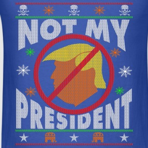 Trump Not My President Ugly Christmas sweater Long Sleeve Shirts - Men's T-Shirt