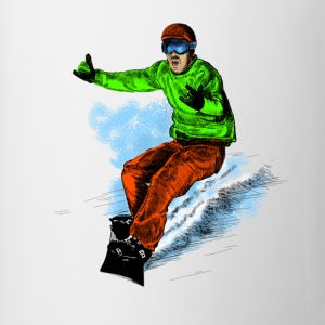 snowboarding Kids' Shirts - Coffee/Tea Mug