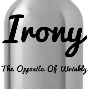 Irony Opposite Of Wrinkly - Water Bottle