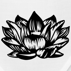 Lotus flower black T-Shirts - Bandana